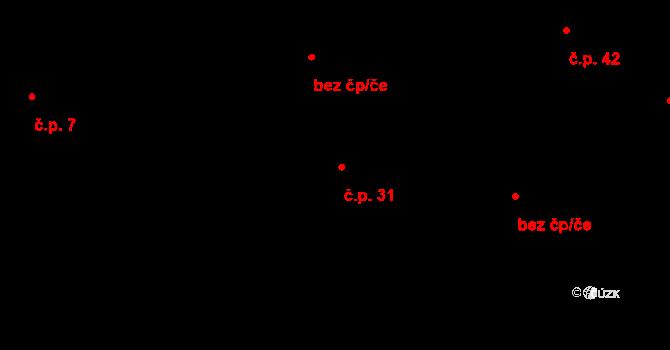 Vlčkov 31 na parcele st. 38 v KÚ Vlčkov, Katastrální mapa