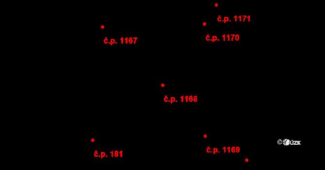 České Budějovice 5 1168, České Budějovice na parcele st. 2699/1 v KÚ České Budějovice 5, Katastrální mapa