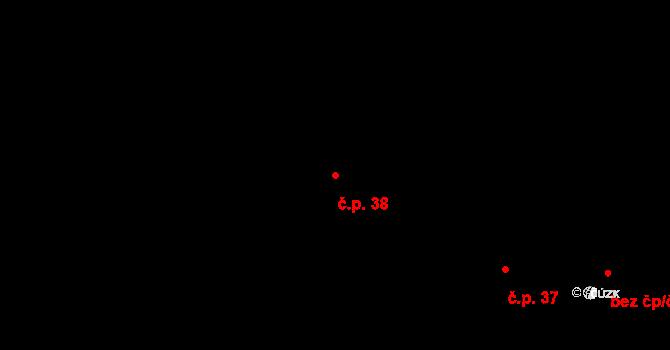 Lhota za Červeným Kostelcem 38, Červený Kostelec na parcele st. 61 v KÚ Lhota za Červeným Kostelcem, Katastrální mapa