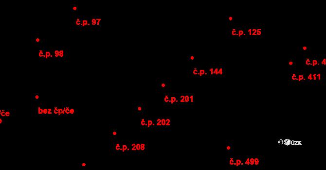 Doubravka 201, Plzeň na parcele st. 1833 v KÚ Doubravka, Katastrální mapa