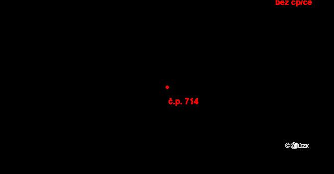 Lednice 714 na parcele st. 1171 v KÚ Lednice na Moravě, Katastrální mapa