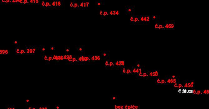 Nivnice 424 na parcele st. 2517/1 v KÚ Nivnice, Katastrální mapa