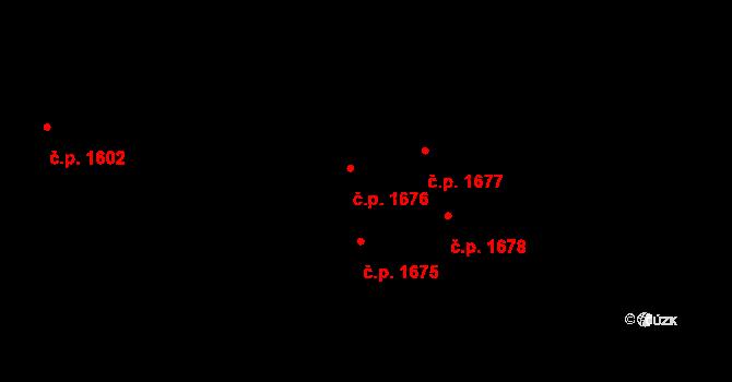 Švermov 1676, Kladno na parcele st. 1137 v KÚ Hnidousy, Katastrální mapa