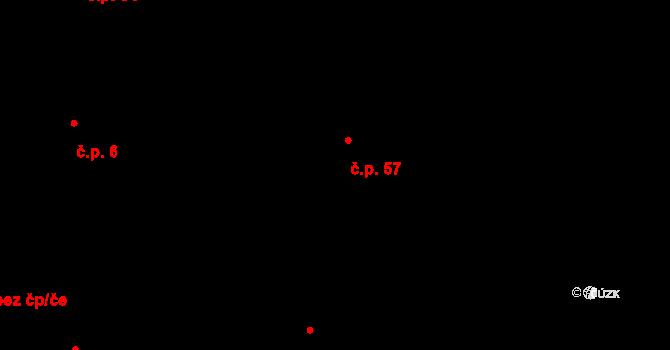Jaroslav 57 na parcele st. 28/1 v KÚ Jaroslav, Katastrální mapa