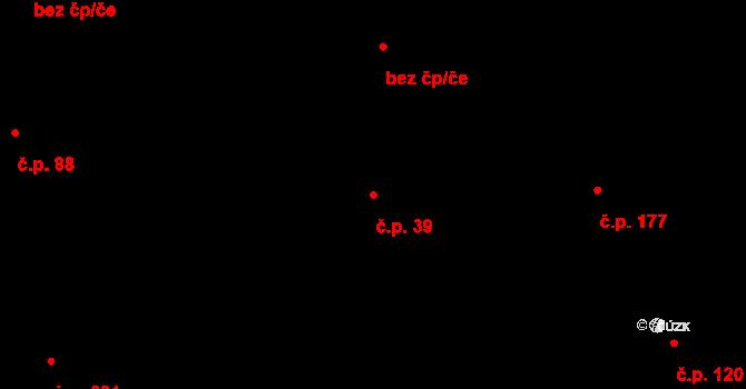 Zásada 39 na parcele st. 80 v KÚ Zásada, Katastrální mapa