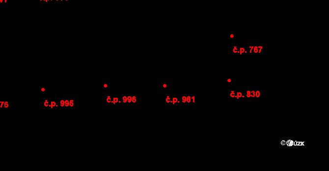 Smíchov 961, Praha na parcele st. 353 v KÚ Smíchov, Katastrální mapa