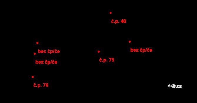 Vilémov 79, Humpolec na parcele st. 166 v KÚ Vilémov u Humpolce, Katastrální mapa