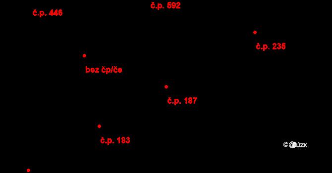 Liberec XI-Růžodol I 187, Liberec na parcele st. 227 v KÚ Růžodol I, Katastrální mapa