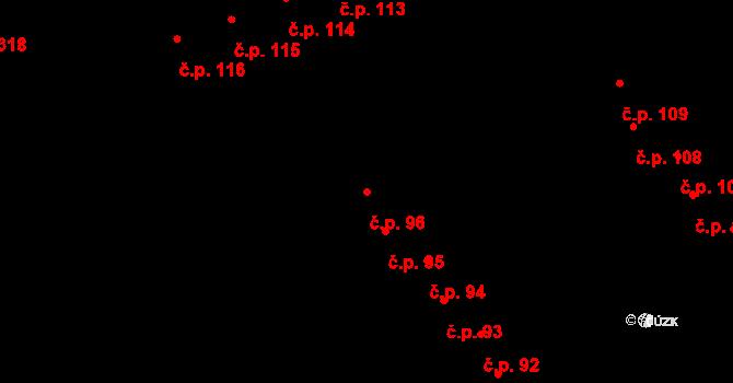 Staré Hory 96, Jihlava na parcele st. 347 v KÚ Staré Hory, Katastrální mapa