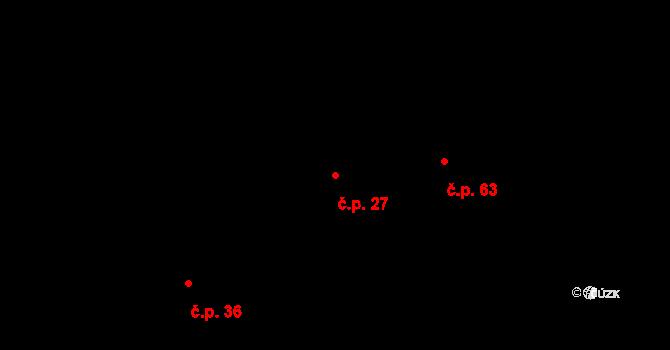 Vyskytná nad Jihlavou 27 na parcele st. 34/1 v KÚ Vyskytná nad Jihlavou, Katastrální mapa