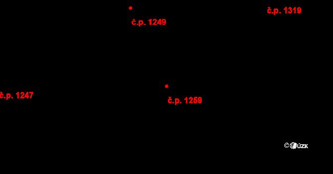 Liberec XIV-Ruprechtice 1259, Liberec na parcele st. 2068/51 v KÚ Ruprechtice, Katastrální mapa