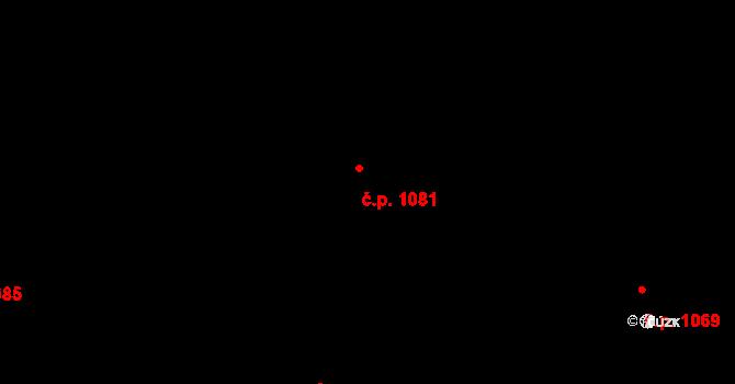 Nivnice 1081 na parcele st. 1981/79 v KÚ Nivnice, Katastrální mapa