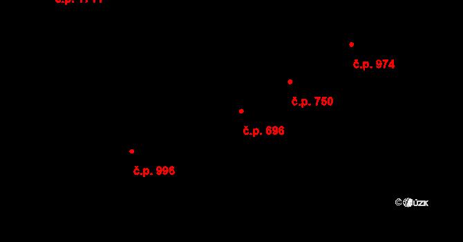 Dubňany 696 na parcele st. 364 v KÚ Dubňany, Katastrální mapa