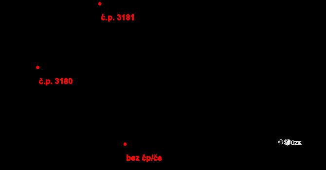 Kladno 3181 na parcele st. 6440/48 v KÚ Kladno, Katastrální mapa