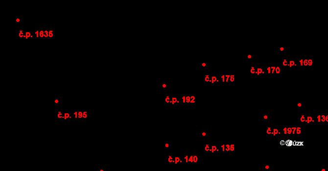 Úvaly 192 na parcele st. 1236/1 v KÚ Úvaly u Prahy, Katastrální mapa