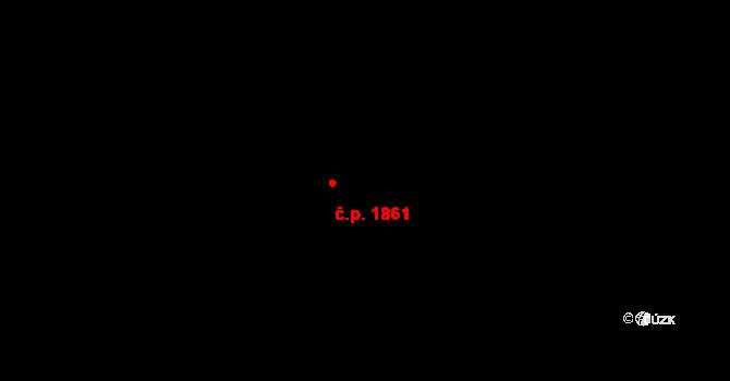 Chodov 1861, Praha na parcele st. 2047/16 v KÚ Chodov, Katastrální mapa