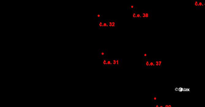 Prštné 31, Zlín na parcele st. 827 v KÚ Prštné, Katastrální mapa