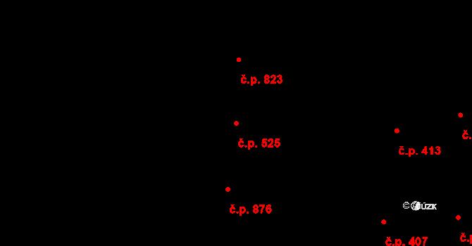 Nivnice 525 na parcele st. 1814 v KÚ Nivnice, Katastrální mapa