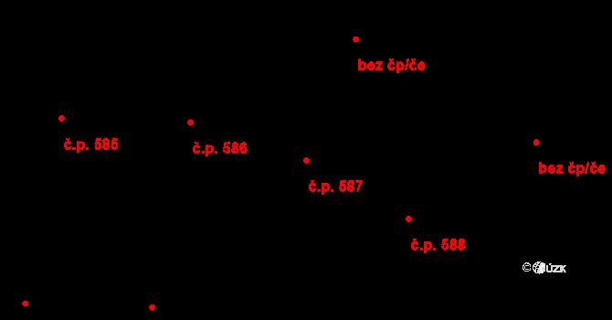 Kaplice 587 na parcele st. 1677/48 v KÚ Kaplice, Katastrální mapa