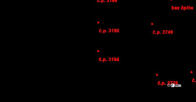 Havlíčkův Brod 3194 na parcele st. 5000 v KÚ Havlíčkův Brod, Katastrální mapa