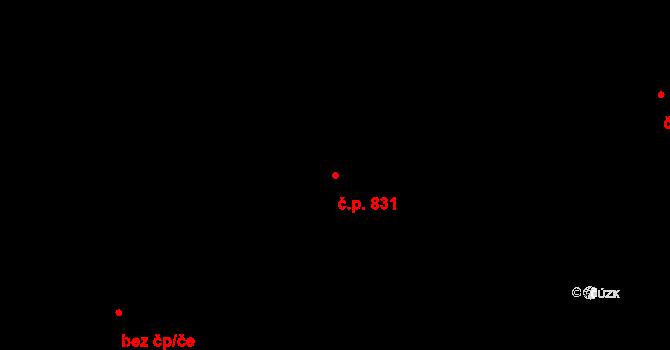 Nové Město 831, Praha na parcele st. 41 v KÚ Nové Město, Katastrální mapa
