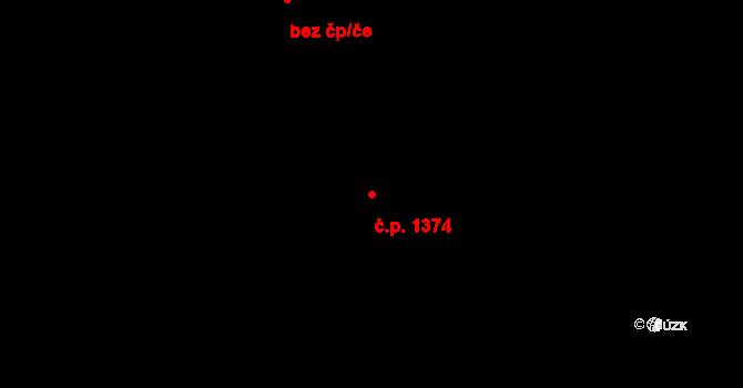 České Budějovice 2 1374, České Budějovice na parcele st. 2015/19 v KÚ České Budějovice 2, Katastrální mapa