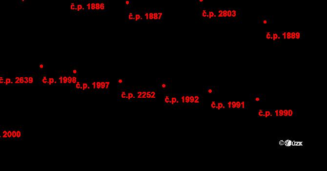 České Budějovice 3 1992, České Budějovice na parcele st. 4642 v KÚ České Budějovice 3, Katastrální mapa