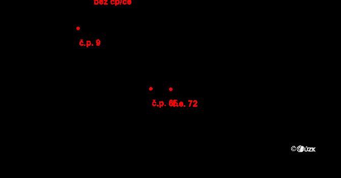 Dlouhý Důl 72, Krásná Lípa na parcele st. 164 v KÚ Kyjov u Krásné Lípy, Katastrální mapa
