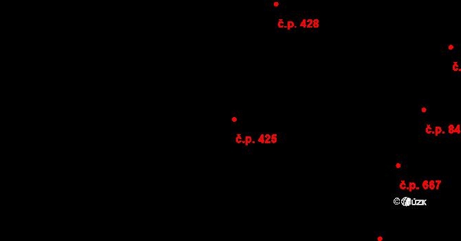 Nivnice 425 na parcele st. 2068/13 v KÚ Nivnice, Katastrální mapa