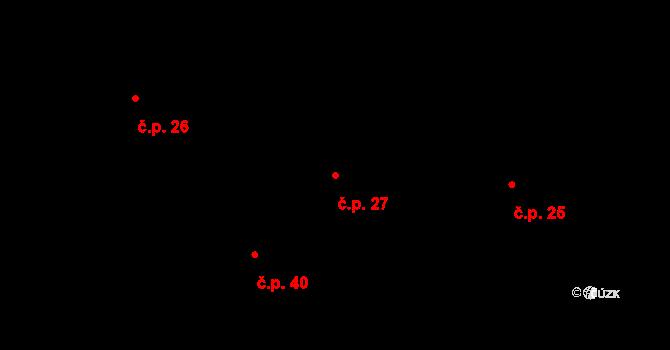 Radíkovice 27 na parcele st. 15 v KÚ Radíkovice, Katastrální mapa