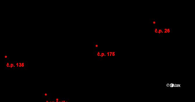 Březno 175 na parcele st. 75/2 v KÚ Březno u Mladé Boleslavi, Katastrální mapa
