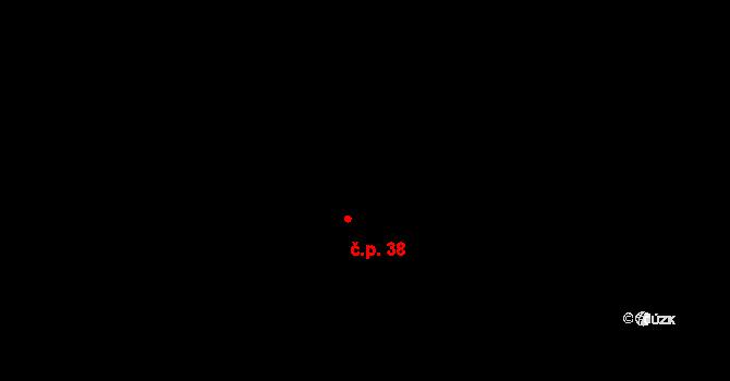 Lhota 38, Trutnov na parcele st. 39/1 v KÚ Lhota u Trutnova, Katastrální mapa