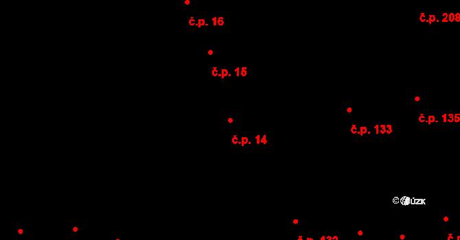 Vodňany I 14, Vodňany na parcele st. 63 v KÚ Vodňany, Katastrální mapa