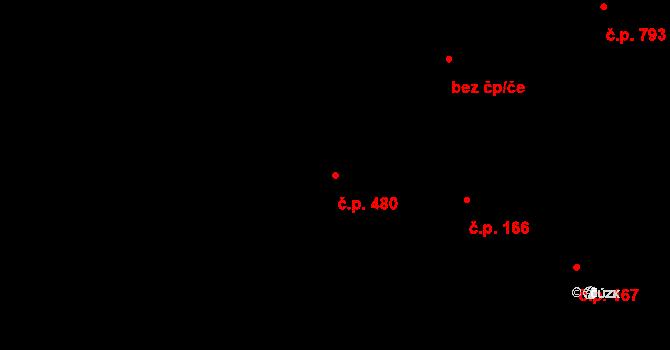Lednice 480 na parcele st. 1176/1 v KÚ Lednice na Moravě, Katastrální mapa