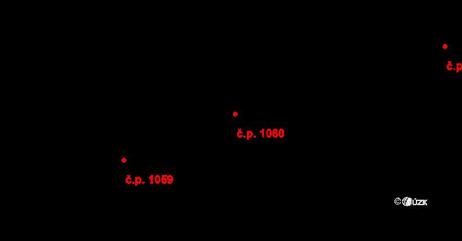 Nivnice 1060 na parcele st. 1981/56 v KÚ Nivnice, Katastrální mapa