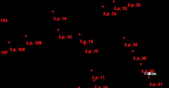 Pardubice-Staré Město 13, Pardubice na parcele st. 143 v KÚ Pardubice, Katastrální mapa