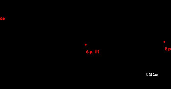 Liberec V-Kristiánov 11, Liberec na parcele st. 2610/1 v KÚ Liberec, Katastrální mapa