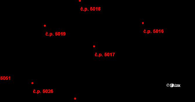 Jihlava 5017 na parcele st. 5706/324 v KÚ Jihlava, Katastrální mapa
