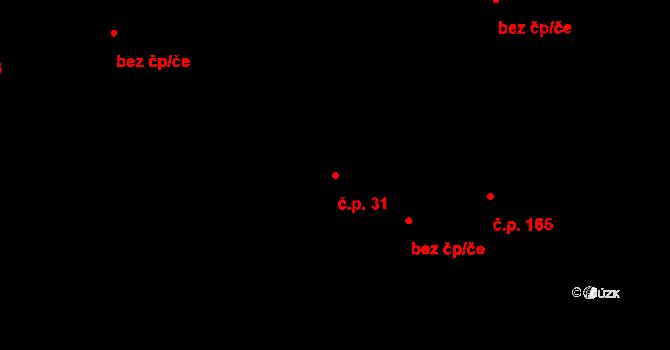 Studánka 31 na parcele st. 34/1 v KÚ Studánka u Tachova, Katastrální mapa