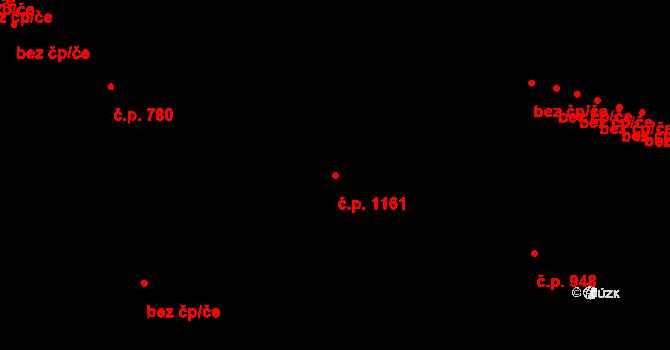 Vrchlabí 1161 na parcele st. 2478 v KÚ Vrchlabí, Katastrální mapa