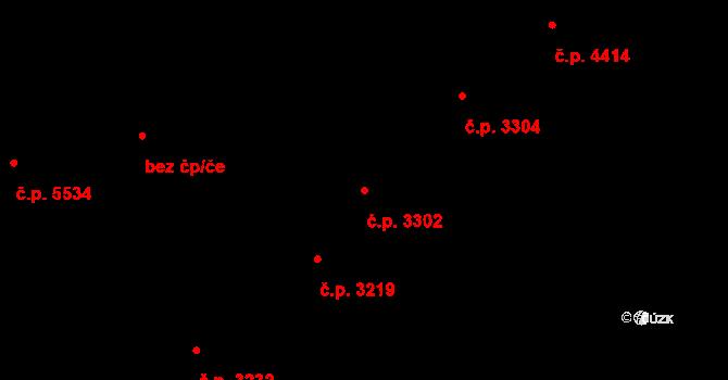 Zlín 3302 na parcele st. 3898 v KÚ Zlín, Katastrální mapa