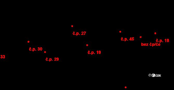Nový Dvůr 19 na parcele st. 146/1 v KÚ Nový Dvůr u Oskořínka, Katastrální mapa