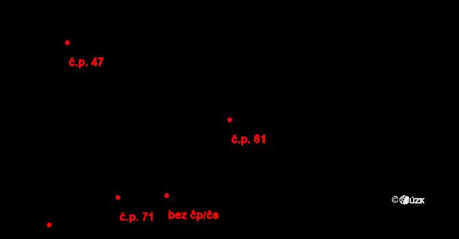 Kosov 61 na parcele st. 43 v KÚ Kosov, Katastrální mapa