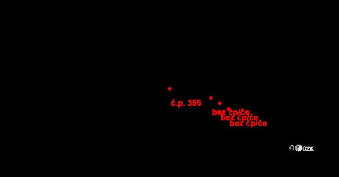 Hradec Králové 356 na parcele st. 435 v KÚ Hradec Králové, Katastrální mapa
