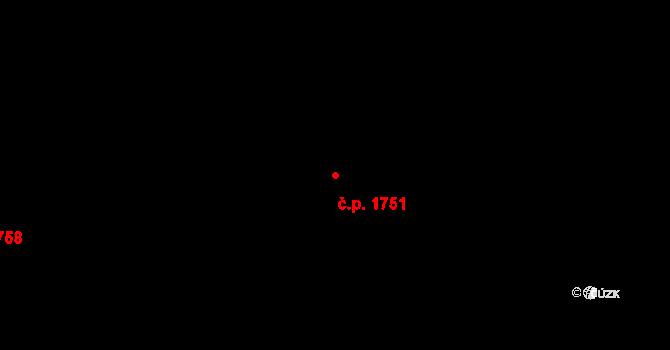 Poruba 1751, Ostrava na parcele st. 2023/1 v KÚ Poruba-sever, Katastrální mapa