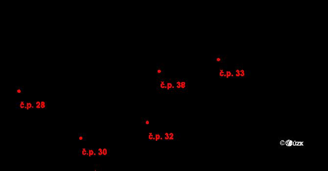 Králova Lhota 38 na parcele st. 43/1 v KÚ Králova Lhota, Katastrální mapa