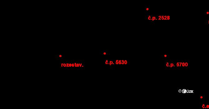 Jihlava 5630 na parcele st. 2108/3 v KÚ Jihlava, Katastrální mapa