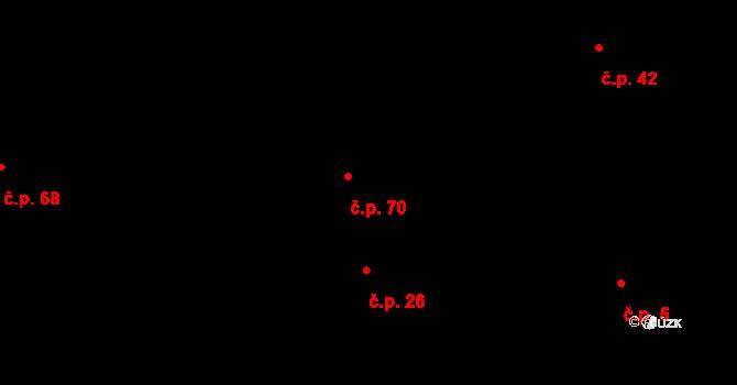 Svatý Jiří 70 na parcele st. 37/1 v KÚ Svatý Jiří, Katastrální mapa