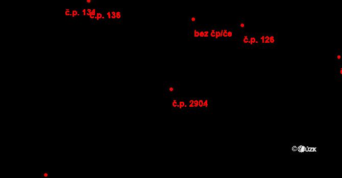 Zelené Předměstí 2904, Pardubice na parcele st. 389/3 v KÚ Pardubice, Katastrální mapa