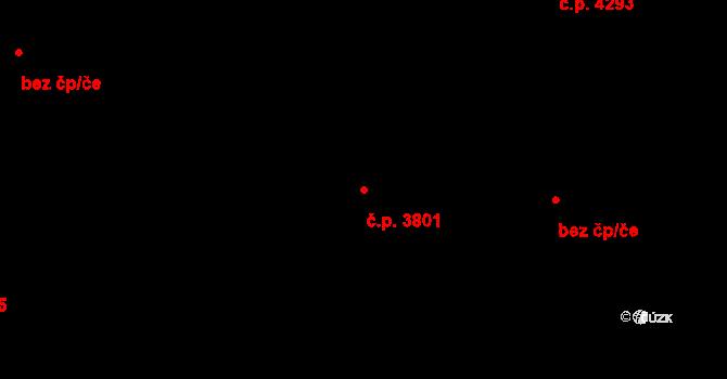 Zlín 3801 na parcele st. 4646 v KÚ Zlín, Katastrální mapa